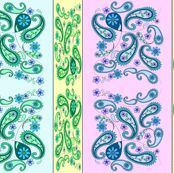 paisley stripes pastel - krs_expressions - Spoonflower fabric
