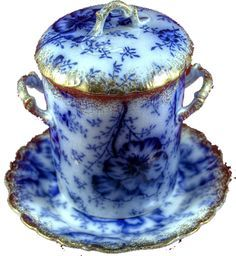 flow blue on Pinterest | Antiques, Plates and Blue And White