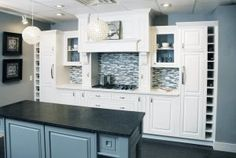 Dura Supreme Cabinetry Transitional Cottage Kitchen by Standale Interiors - Gray walls and Gray island work well with the white kitchen cabinets. I like the configuration of the white cabinets Kitchen Cabinets In Bathroom, New Kitchen, Kitchen Stuff, Dura Supreme Cabinets, Interior Walls, Interior Design, Kitchen Cabinet Manufacturers, New Cabinet, Cottage Interiors