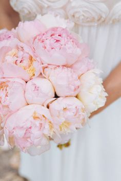 My bouquet- Blush peonies...we will ad in fuchsia as well