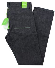 9255bcfb1 Hugo Boss Green Mens Slim Skinny Denim Jeans Green Drake Charcoal #HUGOBOSS  #Skinny Slim