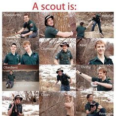 A picture to represent each part of the scout law! Great way to help WEBELOS learn the Scout Law.