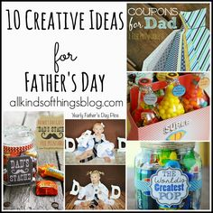 10 Creative Ideas for Father's Day via All Kinds of Things