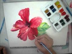 Painting Raindrops in Watercolor.  One of my video demos.