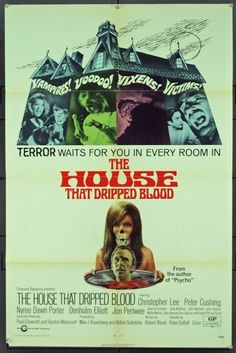 The House That Dripped Blood (1971) Amicus Film, with Christopher Lee & Peter Cushing https://www.youtube.com/user/PopcornCinemaShow