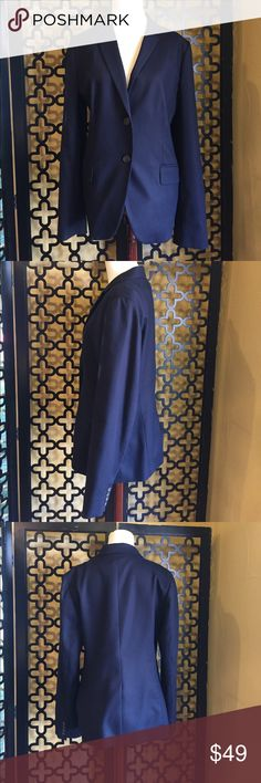 J.CREW ROYAL BLUE BLAZER EUC! Worn once. Great condition. No rips or stains. 2 frontal pockets and 2 front buttons. Looks great with a business casual or professional. Measurements: 30in long, 25in arm length and 38in bust. J. Crew Jackets & Coats Blazers
