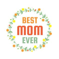 Let Mom Know How Great She Is With This Printable Mother S Day Sticker Template Design Features A Brigh Custom Printed Labels Sticker Template Printing Labels