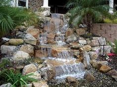 I love the sound of a river or waterfall. Pond-less waterfall would be amazing! | Inspirations Gallery | Blue Thumb