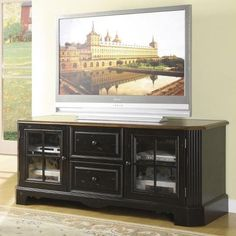 Delcastle Traditional 63-Inch TV Console by Riverside Furniture - Belfort Furniture - TV or Computer Unit Washington DC, Northern Virginia (NoVA), Maryland, and Dulles, VA