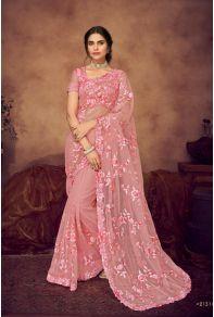 Pink Net Wedding Wear Palav Fabric Saree With Blouse Fabric  Cataloge Number:-9921 Whatsapp :- +91 9377709531 #sareewholesaler #wholesaler #wholesalesupplier #wholesaledealer #sareemanufacturer #sareebulksupplier #sareebulkdealer   #ethnicwear #traditionalwear #indianwear  #weddingwear #sareewholesalesupplier #saree  #shari #sari #sadi  #lace #lkfabkart