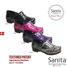 A twist on our Pro Patent, this new Sanita Textured Patent stays true to our Easy Care Leather Standard, while adding an interesting and fun look! #MySanita #Footwear #Comfort #Fashion #Lifestyle #Shoes #Textured #Patent