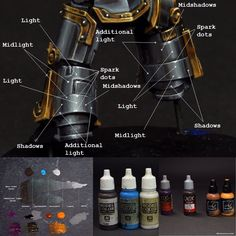 Iron Warriors Praetor-tribune NMM recipe. Paints use