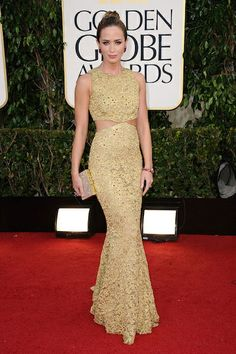 Emily Blunt in Michael Kors | 10 Best Golden Globe Dresses | Camille Styles