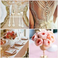 Rose and gold wedding theme