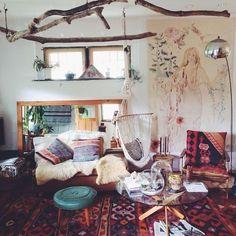 colorful bohemian living room 8