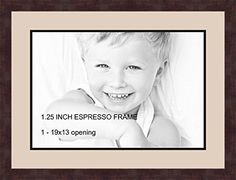 art to frames doublemultimat73078289frbw26061 collage frame photo mat double mat with 1 13x19 openings and espresso