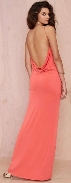 Coral Maxi Dress for Spring and Summer!
