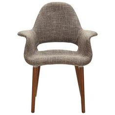 Modway Furniture - Taupe Twill Fabric Retro Modern Chair