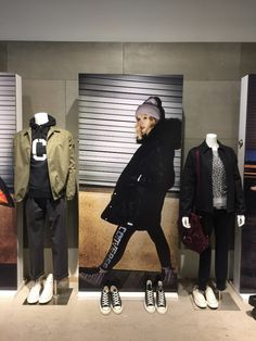 parka, coach's jacket, leopard print crew neck sweatshirt, sweatpants