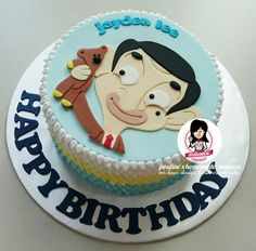 Mr Bean Design Fresh Cream Cake Mr Bean Birthday, Prince Birthday Party, Boy Birthday, Mr Bean Cake, Bean Cakes, Mr Bean Cartoon, Mr. Bean, Cartoon Birthday Cake, Fresh Cream