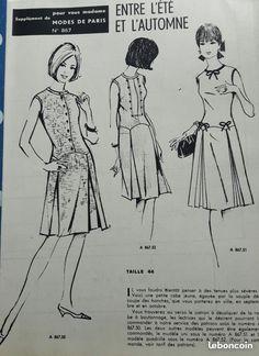 Patron robe femme taille 44 modes de paris n°867