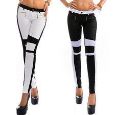 Fashion Women Skinny Leggings Stretchy Zipper Sports Jeggings Long Pencil Pants