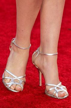 Which celebrities have the most beautiful feet? I asked a bunch of foot fetishists to find out. Strappy Shoes, Shoes Heels, Women's Feet, Sexy High Heels, Celebrity Feet, Your Shoes, Shoes Online, Amazing, Anne Hathaway
