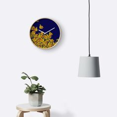 """Monarchs At Midnight"" Clocks by amayabrydon Framed Prints, Canvas Prints, Block Wall, Spring Nature, Butterfly Pattern, Wall Decor, Wall Art, Quartz Clock Mechanism, Monarch Butterfly"