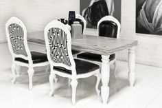 www.roomservicestore.com - Hollywood White Macassar Dining Table on Wanelo