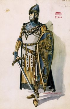 Lohengren is brought by the swan a day with richard wagner ebook frederick of telramund sketch of the costume created by charles betout for act i of lohengrin by richard wagner fandeluxe Document