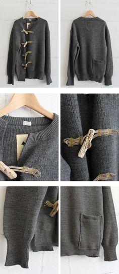 Not ordinary sweater to cardigan refashion! Diy Clothes Refashion, Sweater Refashion, Diy Clothing, Sewing Clothes, Remake Clothes, Recycled Clothing, Look Fashion, Diy Fashion, Fashion Beauty