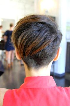 Check these out 6 of 15 photos about 60 cool back view of undercut pixie haircut hairstyle ideas throughout newest back view of pixie hairstyles. View full gallery of 15 photos and related pixie haircut ideas here. Undercut Pixie Haircut, Short Pixie Haircuts, Hairstyles Haircuts, Pretty Hairstyles, Hairstyle Ideas, Short Undercut, Girl Undercut, Asymmetrical Haircuts, Nape Undercut