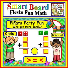 SMART Board Fiesta Fun Math:  This 60 slide interactive lesson is a great way to practice math and celebrate Cinco de Mayo at the same time.