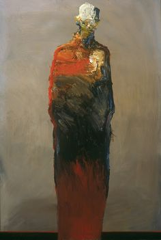 Dan McCaw -This painting represent the fear that freezes and keep us from finding our own true self. The hands are frozen to the sides of the figure symbolizing the limitations that we place on ourselves in order to fit in and not be rejected or humiliated, but by doing this we limit and sacrifice the possibilities of ever reaching our full potential. January 18, 2012