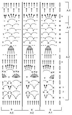 """Lady Lace - Saia DROPS em croché, em pontos altos e ponto com ajours, feita de cima para baixo, em """"Merino Extra Fine"""". Do S ao XXXL. - Free pattern by DROPS Design"""