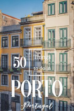 50 Things To Do In Porto Portugal. A Complete Porto Travel Guide - - 50 things to do in Porto Portugal. Our Porto travel guide is loaded with the highlights, local treasures & travel tips for visiting Portugal's most charismatic city. Portugal Vacation, Portugal Travel Guide, Mexico Vacation, Visit Portugal, Spain And Portugal, Porto Portugal, Portugal Trip, Beautiful Places To Visit, Cool Places To Visit