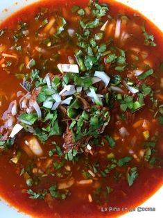 Birria de Res Con Consomé (Beef in Consomme) - The Pineapple in the .- Birria de Res Con Consomé (Beef in Consomme) – Pineapple in the Kitchen - Authentic Mexican Recipes, Mexican Food Recipes, Ethnic Recipes, Beef Birria Recipe, Pozole Recipe, Food Porn, Good Food, Cooking, Recipes