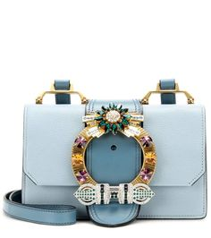 mytheresa.com - Verzierte Schultertasche aus Leder - Luxury Fashion for Women…
