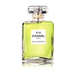 Chanel-No19-Red-Online.  No. 19 feels fresh and clean, but yet has an underlying depth that gives it substance, sensuality and innate chic. It works as well in summer (sharp green notes and neroli have a tingling lushness) as it does in winter (soft, powdery iris fuses alchemically with May rose and cedarwood). Alluringly vital, vitally alluring. By Kim Parker