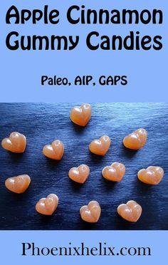 Apple Cinnamon Gummy Candies - Autoimmune Protocol (AIP) Recipes - Healt and fitness Vegan Gelatin, Gelatin Recipes, Jello Recipes, Diet Recipes, Healthy Recipes, Cinnamon Bears, Cinnamon Apples, Best Gummy Bears, Thing 1
