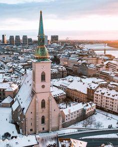Bratislava, Paris Skyline, City, Winter, Travel, Winter Time, Viajes, Cities, Destinations