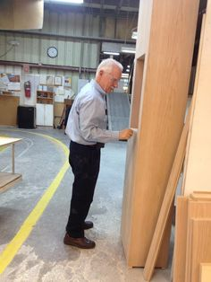 Greenfield Owner Pat Corsi Stops By To Inspect The Custom Cabinetry Job For Dealer Bluestem