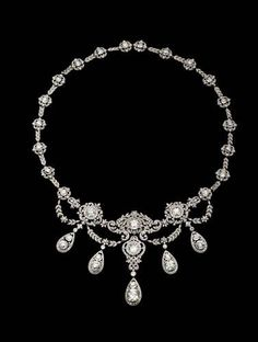 The Wade Necklace, (Gold, platinum, diamonds, c.1900). Tiffany & Co. Archive,