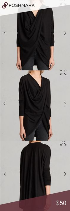 ALLSAINTS ITAT SHRUG ALLSAINTS Itat shrug . Brand new with tags. Color is ink. UK 6/US 2 All Saints Sweaters Cardigans