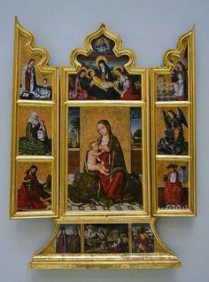 Nicolás Falcó Esta obra, conocida como el Tríptico de la Virgen de la Leche…