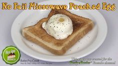 NO Fail Microwave Poached Egg Recipe