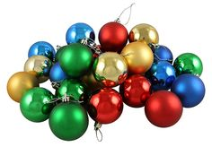 24 Piece Shatterproof Christmas Ball Ornament Set