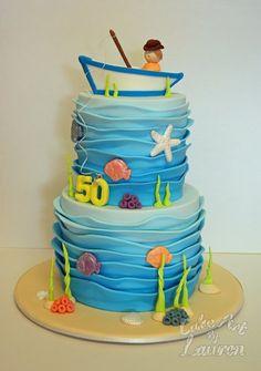 fishing birthday cake for adult Fish Birthday Cake Ideas Cakes