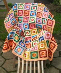 My grandma used to make square blankets like this...