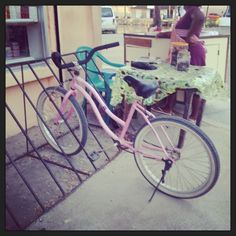 The most popular color for a bike in Belize in Pink! Hmmmm...